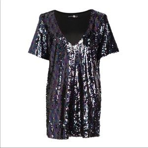 NWT Boohoo Sequin shift dress